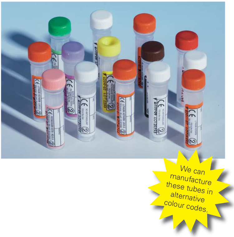 Screw Cap Paediatric Blood Collection Tubes