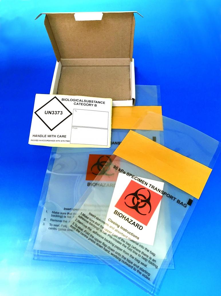 95kPa specimen transport bags boxes