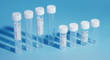 10ml Polystyrene Tube White Screw Cap Labelled Gamma Irradiated - PBT202 (Pack of 1000)