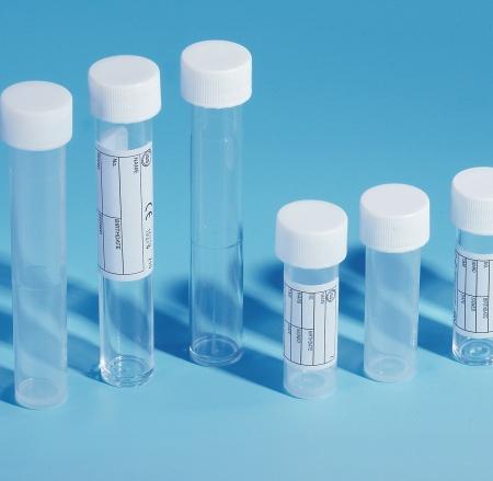10ml Polystyrene Tube White Screw Cap Unlabelled - PBT168 (Pack of 500)
