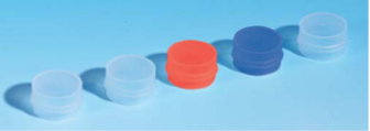 Cap for Sample Cups, Red - CUP020 (Pack of 1000)
